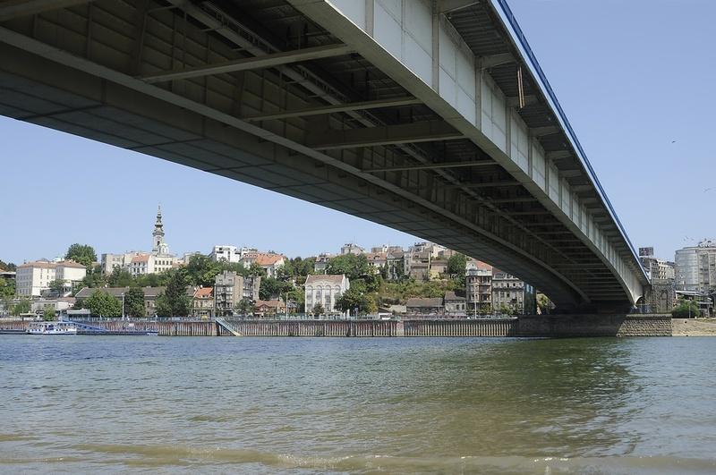 Reka Sava u Beogradu - ispod Brankovog mosta