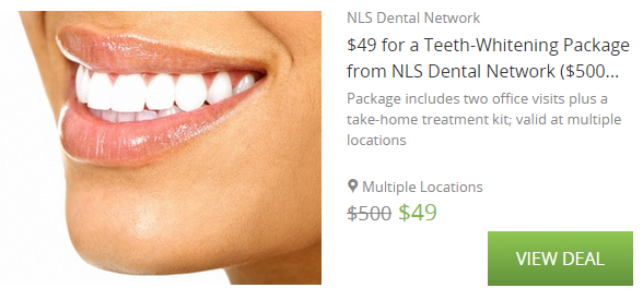 save $450 on teeth whitening