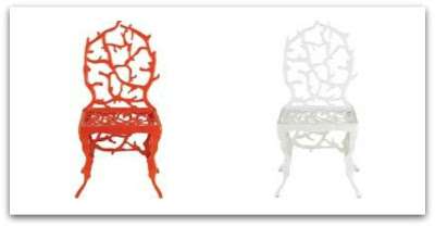 metal coral chair