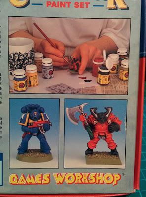 Citadel Colour Paint Set 1994 - Back of box Minis