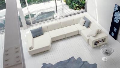 Imbiancare casa idee colori e abbinamenti per imbiancare - Divano bianco e grigio ...