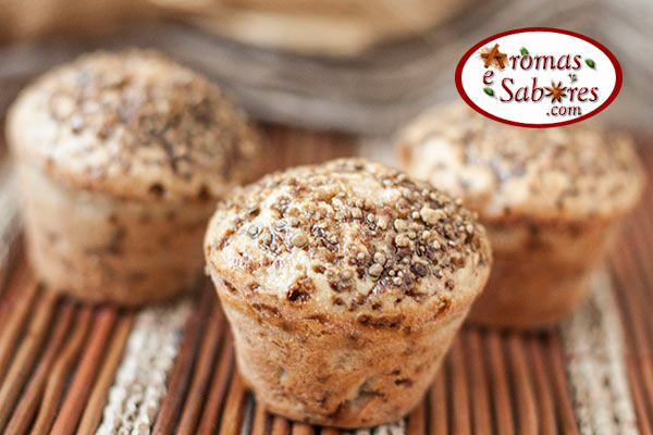 Muffin integral de maçã