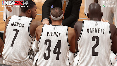 NBA 2K14 Next-Gen Joe Johnson, Paul Pierce & Kevin Garnett
