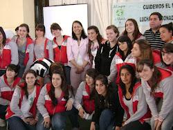 Con alumnos de 9 de julio BsAs