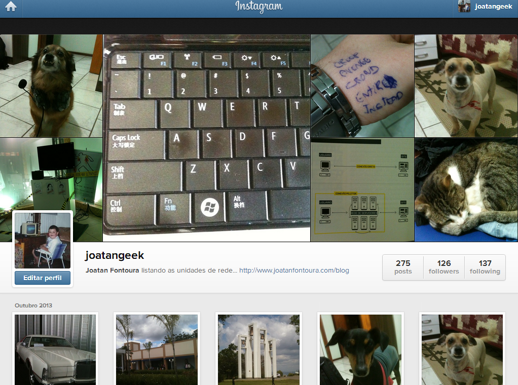 instagram foto perfil crianca joatan fontoura 2013