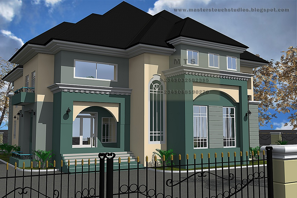 5 bedroom duplex modern and contemporary nigerian for Duplex plans with cost to build