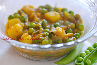 Favorite Flavors from the Kerala Kitchen....: Potato-Green peas Curry