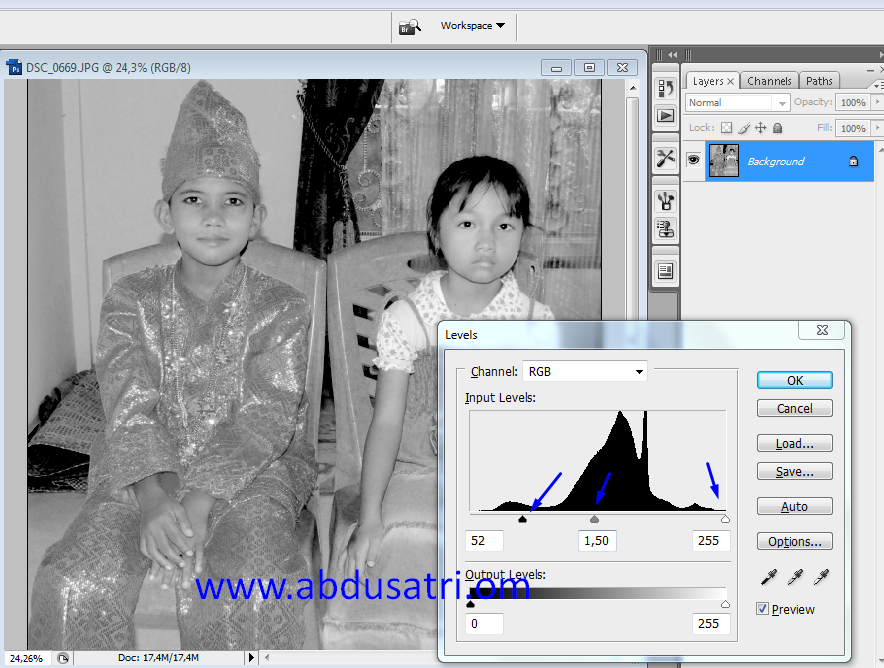tutorial buat foto jadul di photoshop