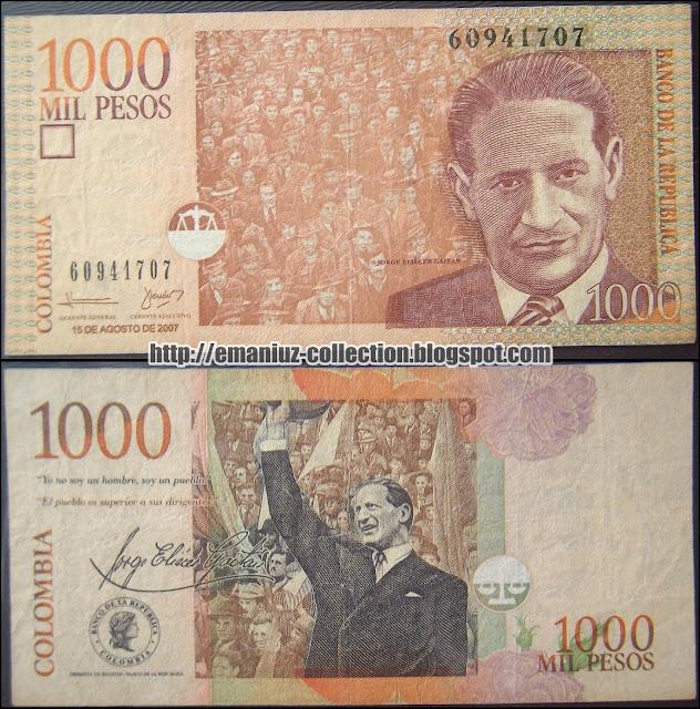 Colombia P-456 , 1000 Pesos, Banco de la República