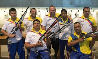 Equipe colombiana de Tiro Paradesportivo - Aberto Internacional de Tiro - Foto: Fernando Maia/ Mpix/ CPB