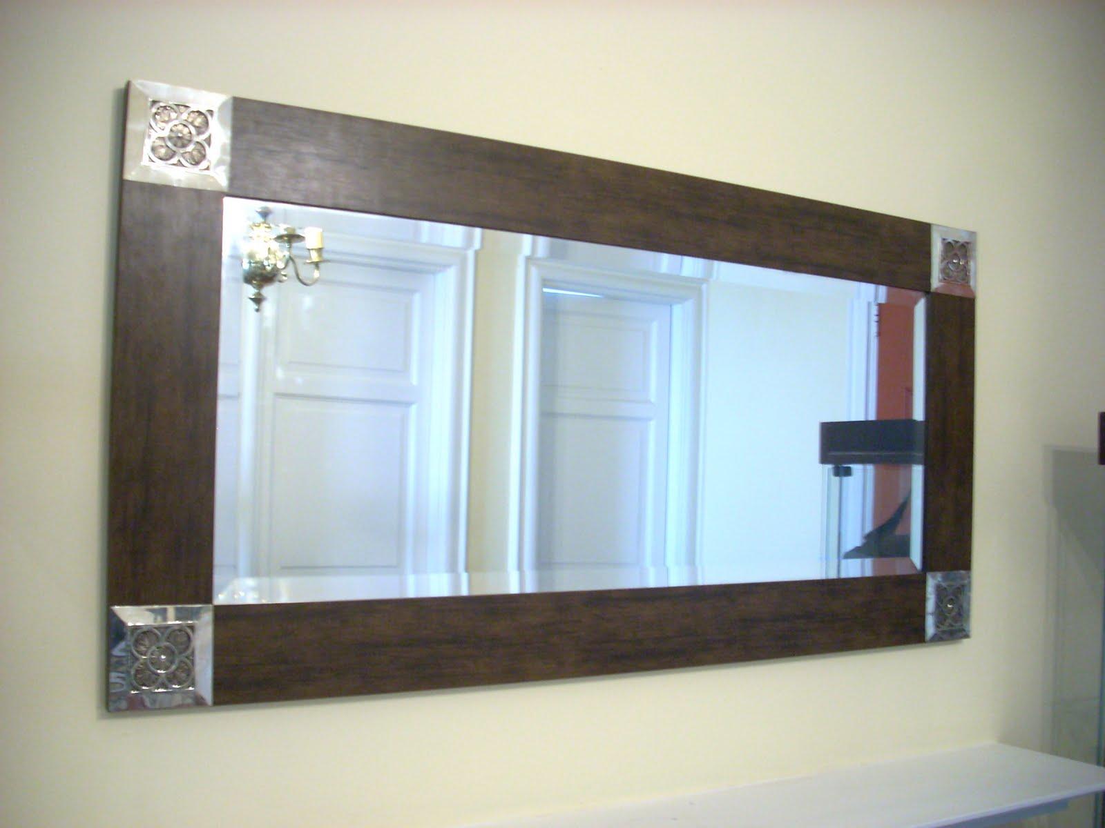 Espejos de madera con punteras for Espejos de madera