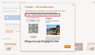 Cara Mudah Menonaktifkan Tampilan Seluler/Mobile Di Blog