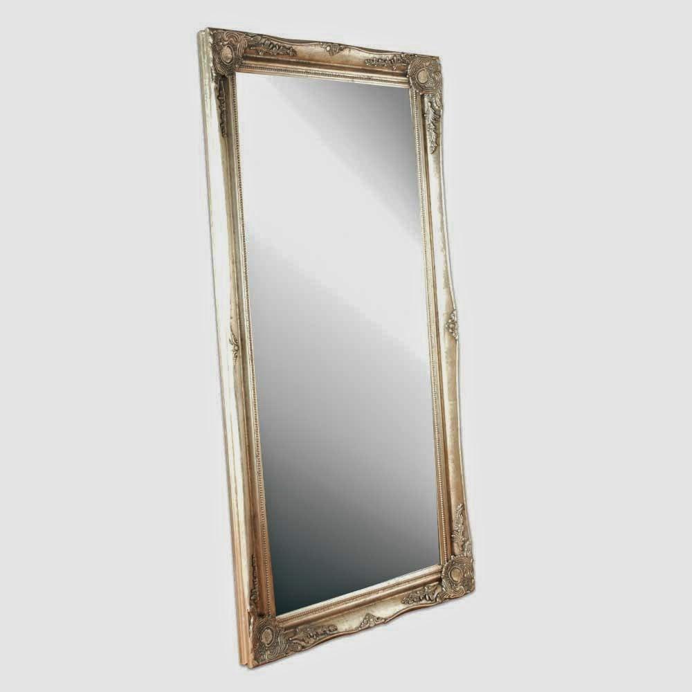 Large ornate floor mirror