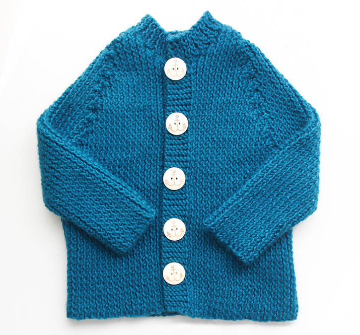 Ribbed Baby Cardigan [knitting pattern] - Gina Michele