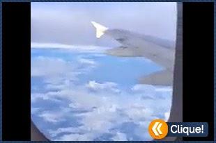 OVNI flagrado por passageiro em pleno vôo