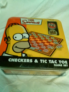 The Simpsons Checkers & Tic Toe Game Set
