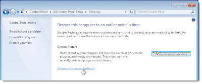 system recovery,windows 7