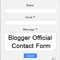 Add Google Official Contact Form Widget to Blogger