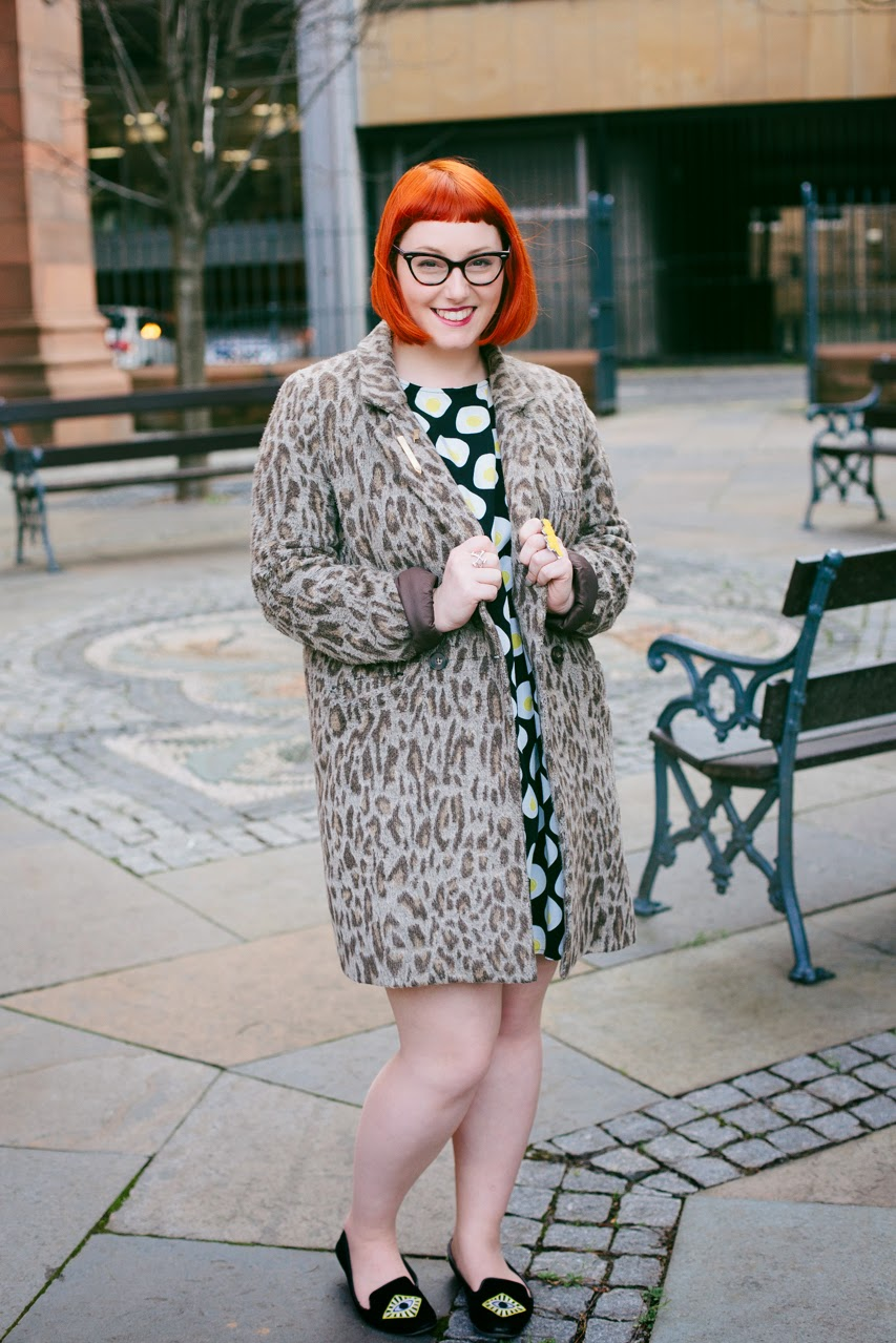Edinburgh Blogger, Scottish Blogger, Mint and Chillies, Ginger, Red Head, cat eye glasses, The Whitepepper egg dress, leopard print, Edinburgh