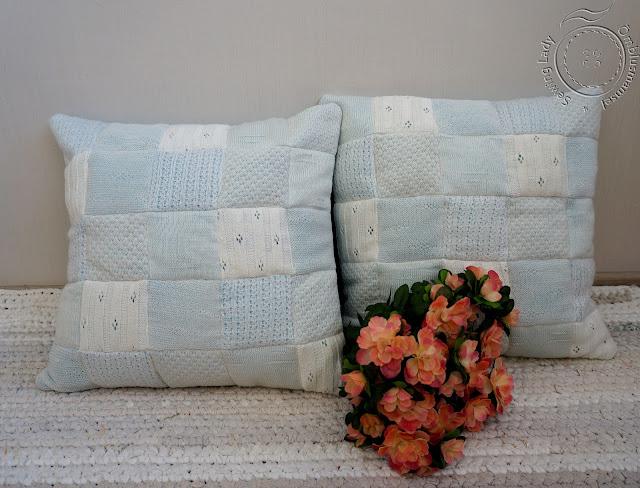 taaskasutus, dekoratiivpadi, Patchwork pillow