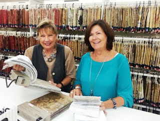 Lori Conway, sales representative, Wesco Fabrics, sample books, interior design