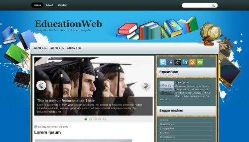 Шаблон EducationWeb
