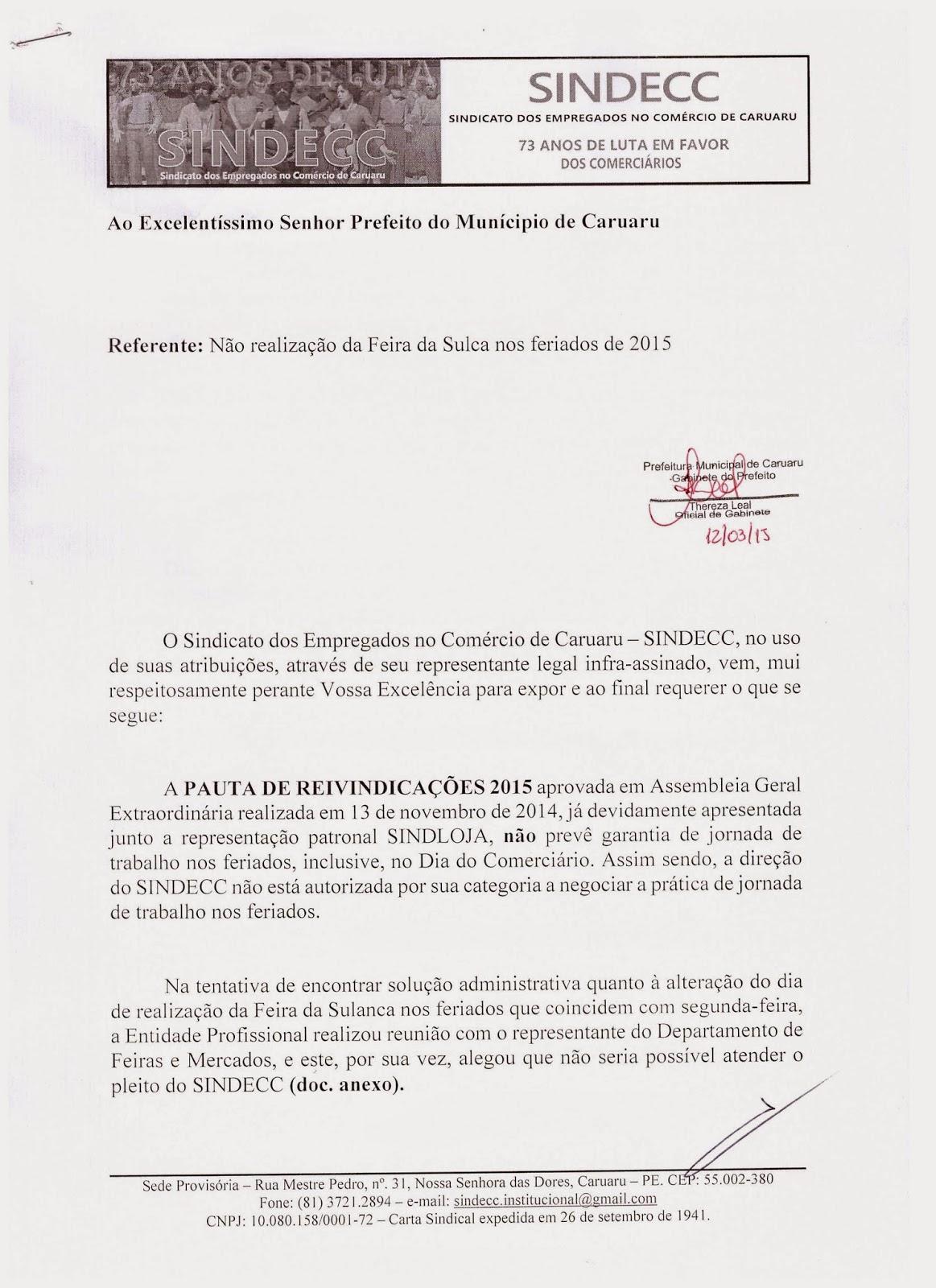 ADIAMENTO DA REUNIÃO DE AMANHÃ, DIA 19.