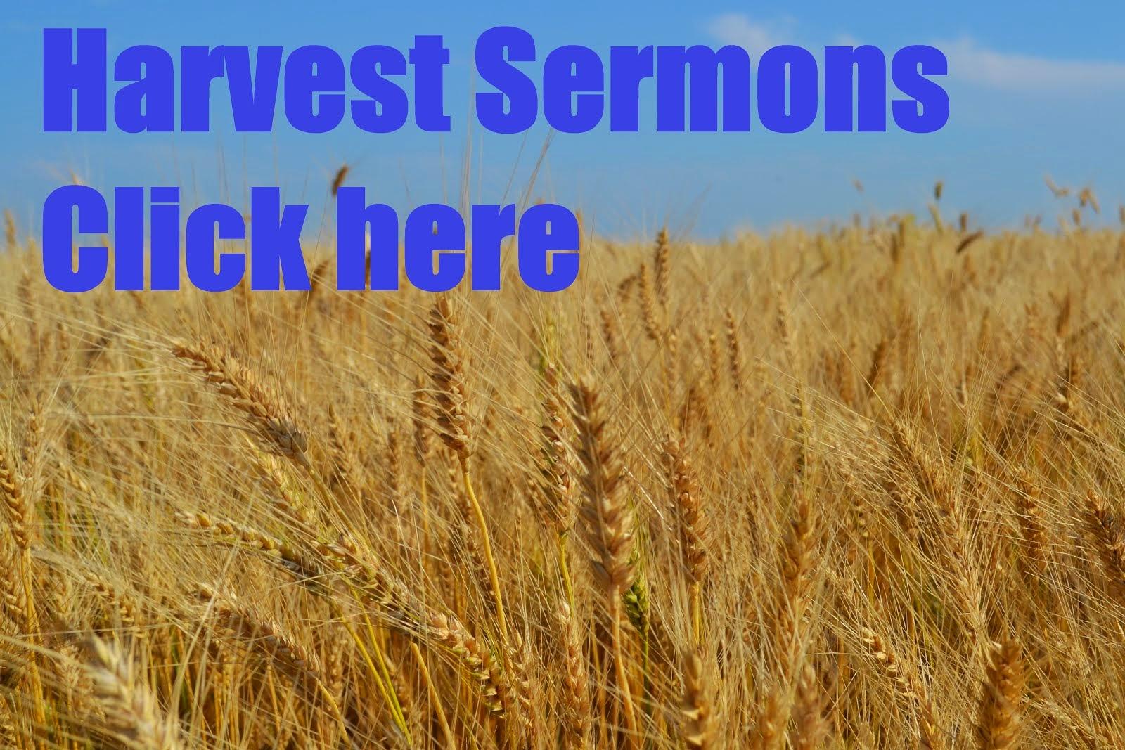 Harvest Sermons