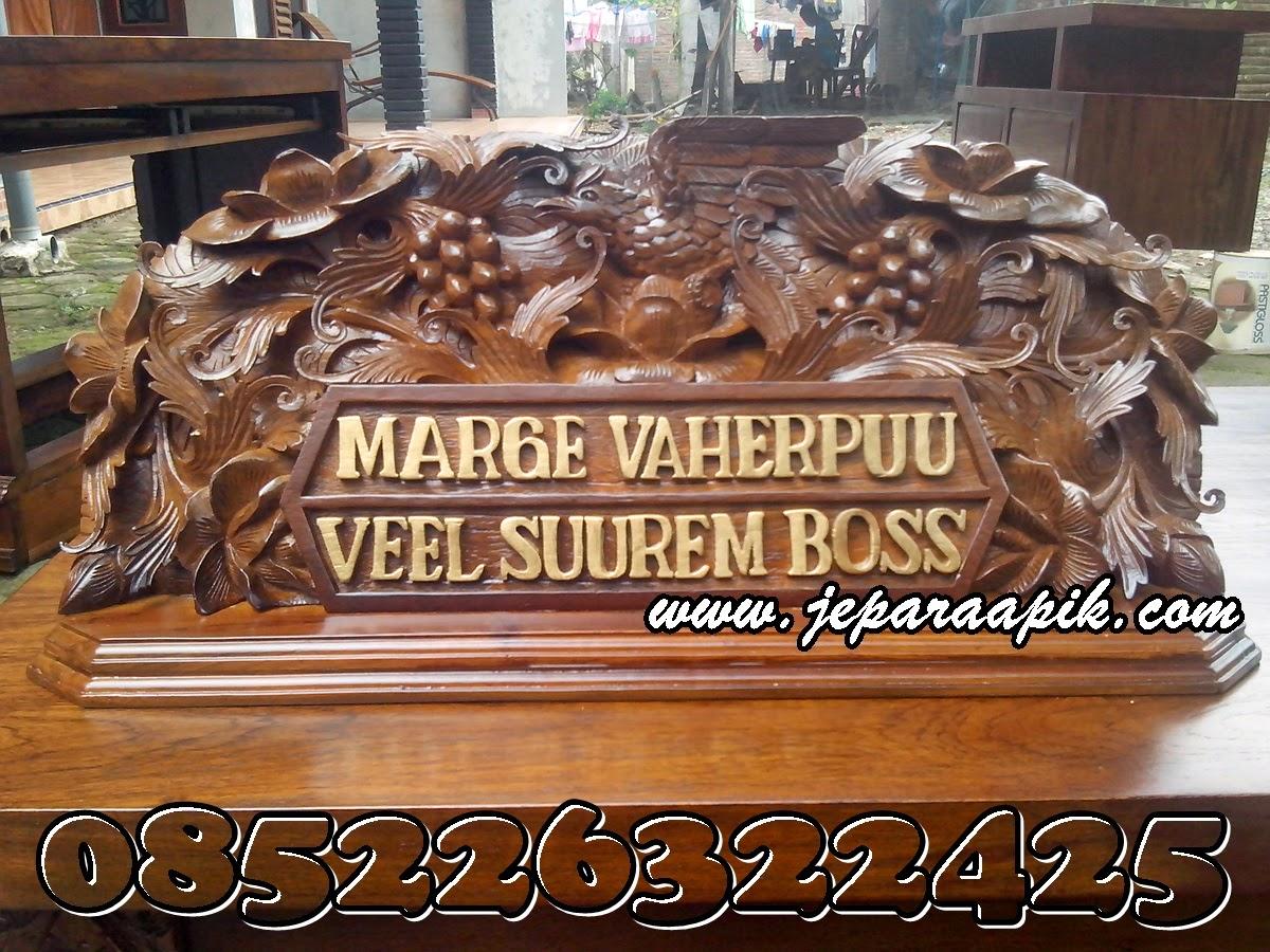 papan nama meja
