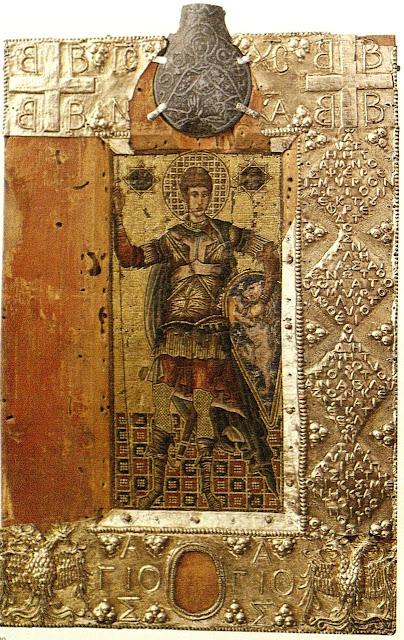 Η εικόνα του Αγίου Δημητρίου από το Σασοφεράτο της Ιταλίας.