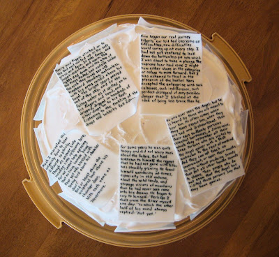 Classic Book Pages Cake - Overhead View