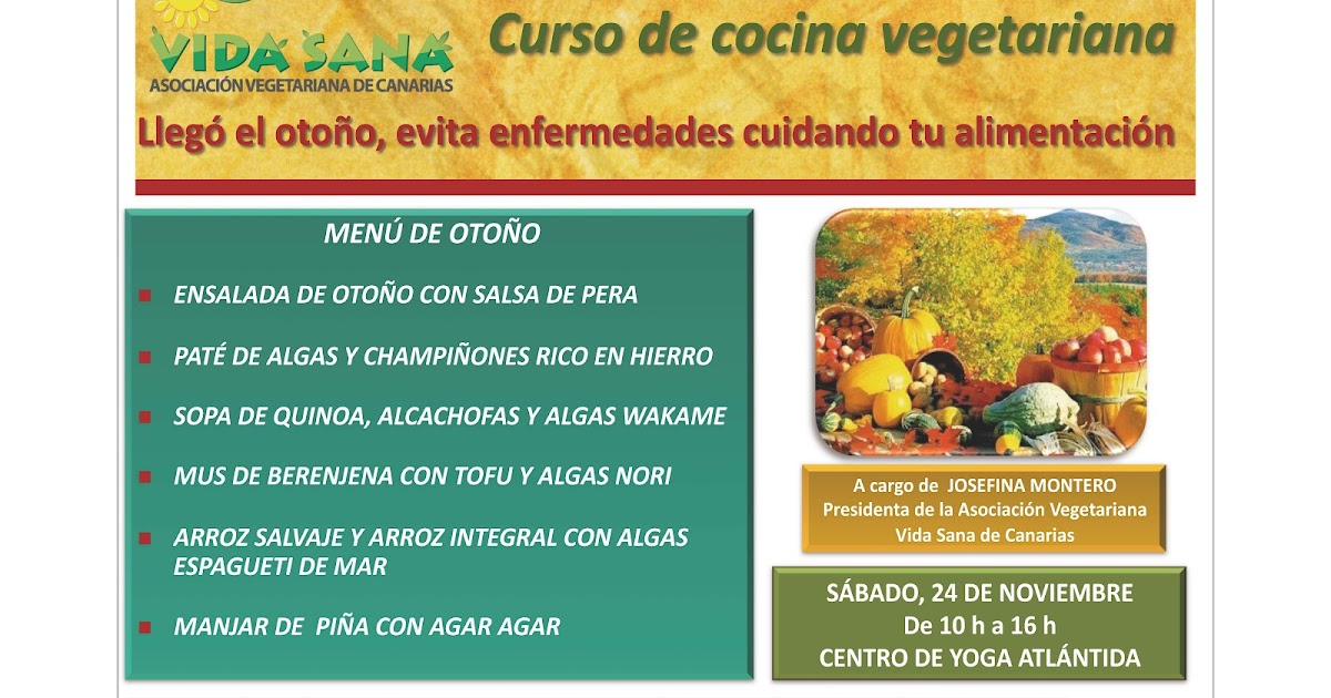 Asociaci n vegetariana vida sana de canarias curso de - Curso de cocina vegetariana ...