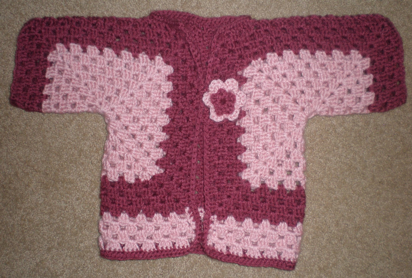 Amys Crochet: Baby Sweater (3-6 month old)