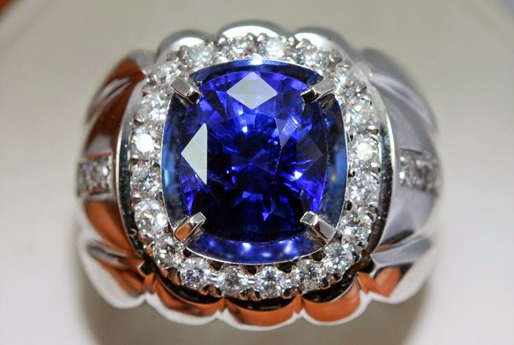 Cincin Akik Blue Safir