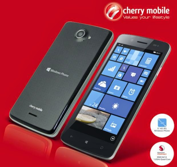 Cherry Mobile Alpha Luxe, 5-inch HD, Quad Core, WP8.1 For Php4,999