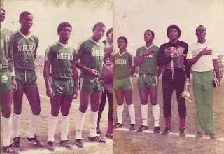 "Seol 88 Olympic qualifiers, January 1988.  Nigeria 2:0 Algeria   Ademola Adesina, Sunday Eboigbe, Samuel Okwarawaji,Stephen Keshi, Peter Rufai and Coach Yussuf Salami, Flash Back Monday: Check out Peter Rufai's ""Afro"" and  Keshi's Pants"