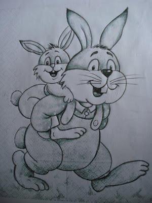 papai coelho e filhote
