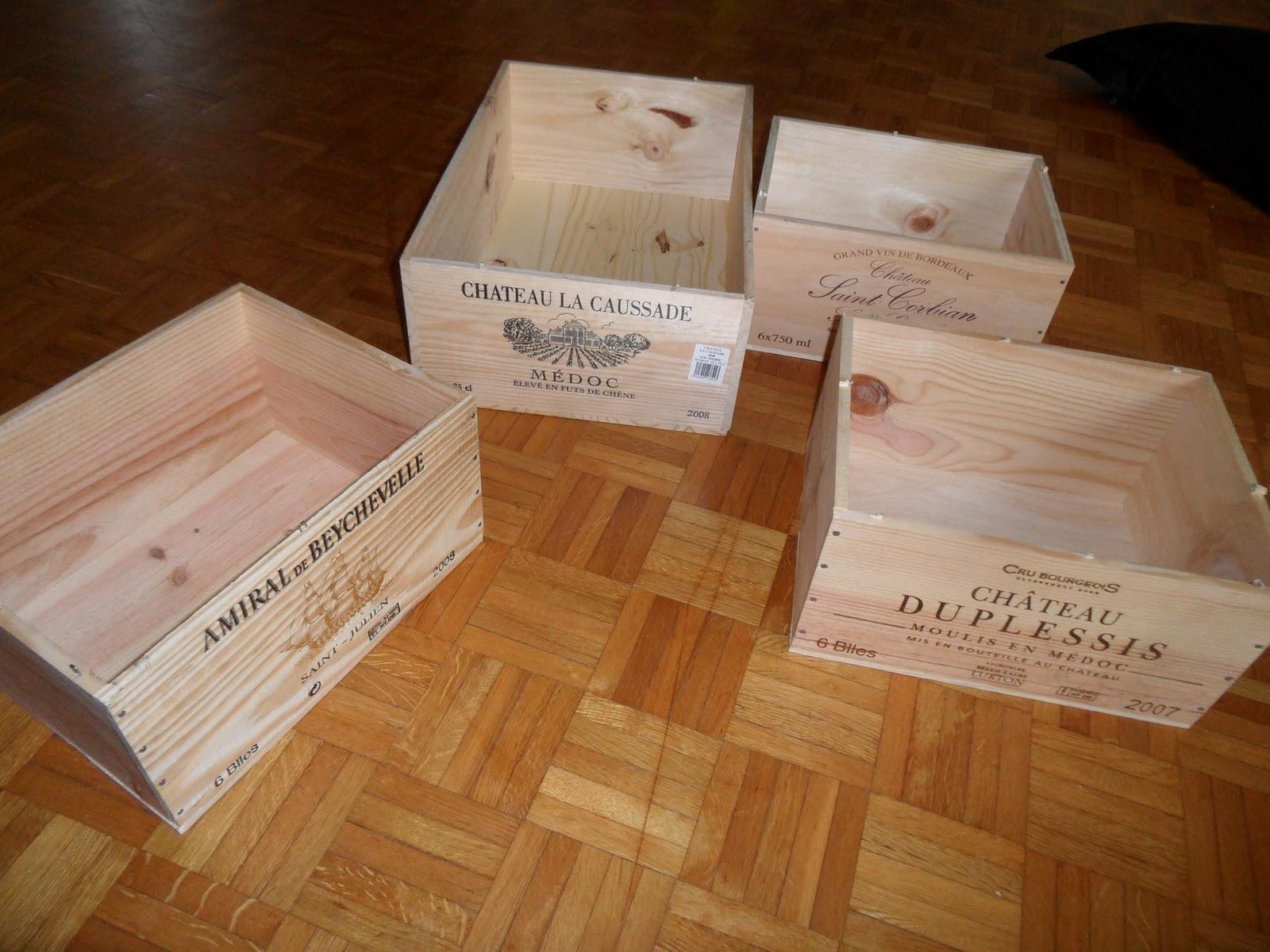 Reutilizar y crear muebles con cajas de vino de madera - Hacer caja de madera ...