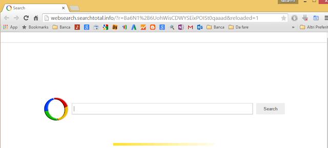 Come rimuovere websearch.searchtotal.info da pagina iniziale