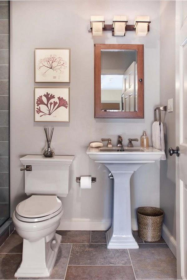 Como Decorar um banheiro pequeno - Simples - Toda Atual