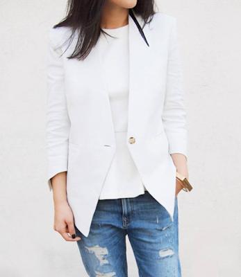 White Blazer Bridal Trend 2015