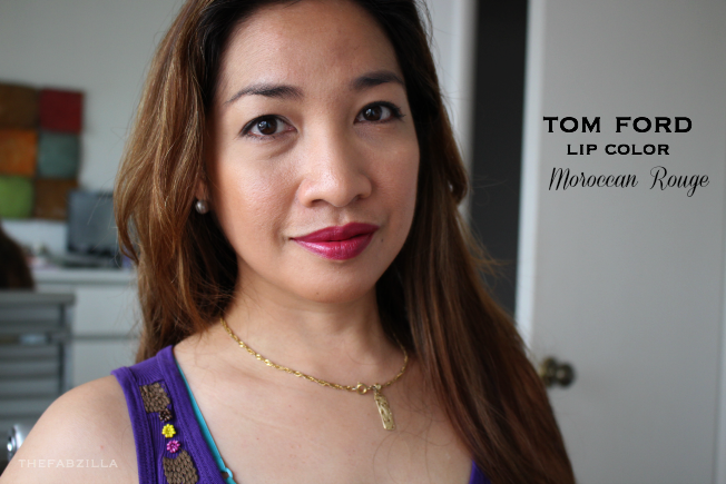 how to wear berry lipstick, spring summer lipsticks, tom ford lip color matte first time, tom ford lip color moroccan rouge, review, swatch