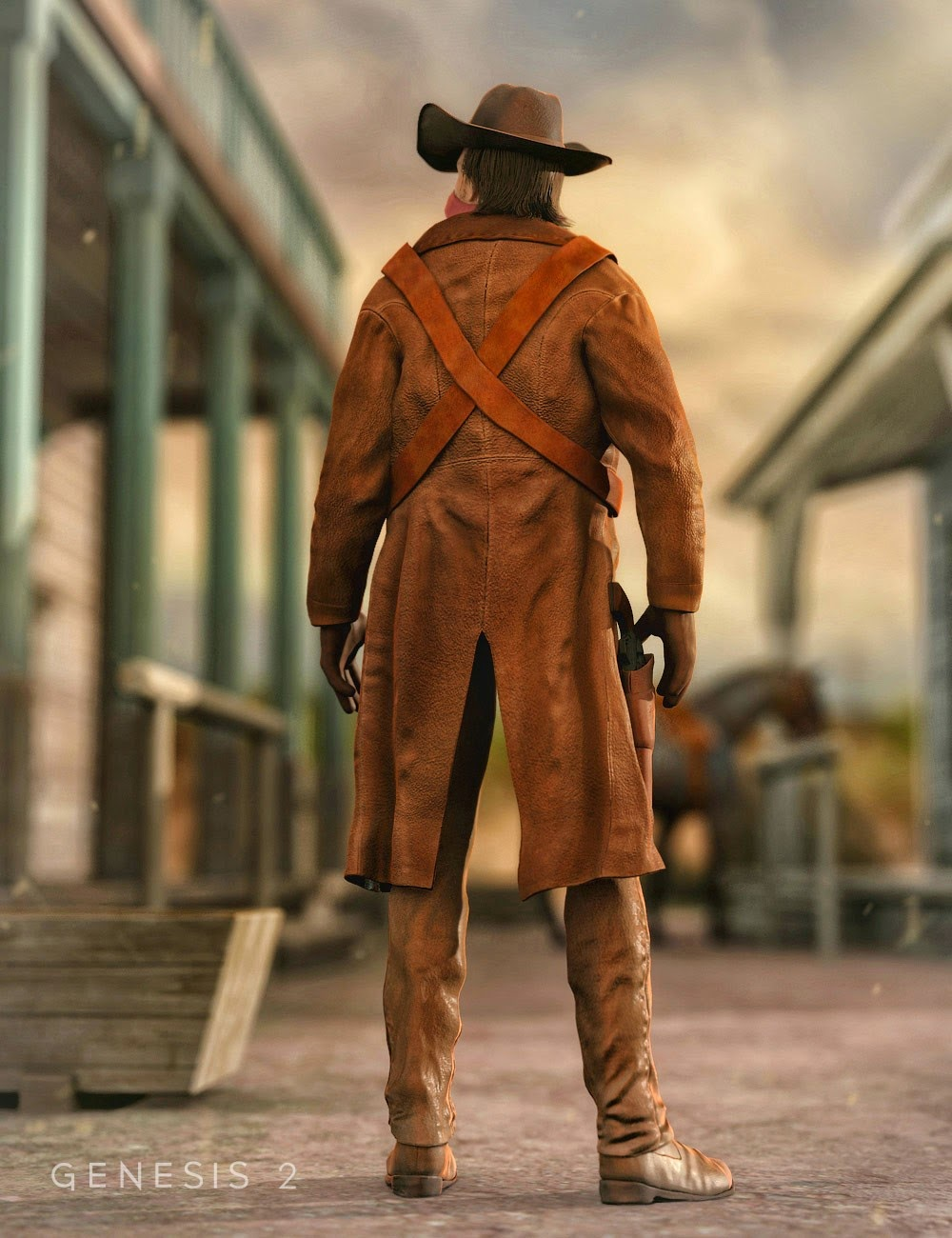 Western Outlaw pour Genesis 2 Homme