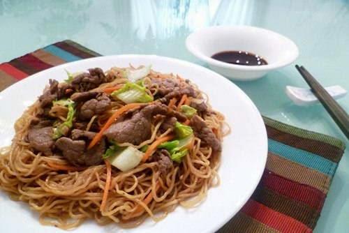 Vietnamese Noodle Recipes - Mì Xào thịt Bò