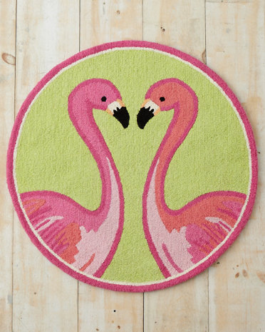 Lilly Pulitzer Flamin Go Hooked Wool Rug