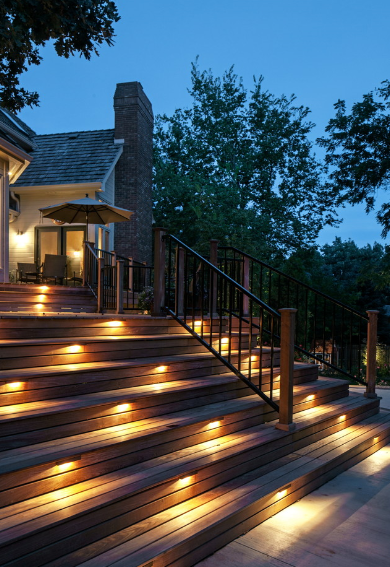 lights like this would be amazing at night while walking up from the pool area lighting steps e