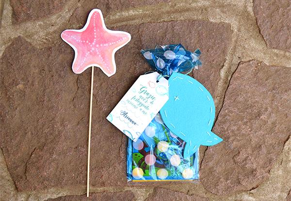 pesce in regalo ai bimbi per la festa di compleanno