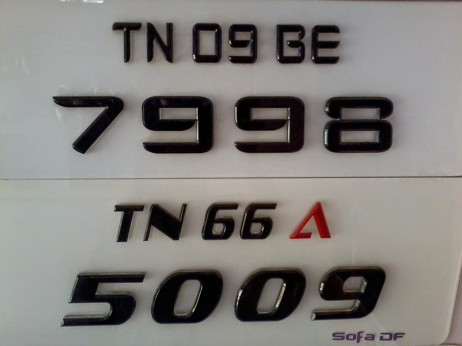 Number Plates Acrylic Number Plates Laser Cutting Number Plates