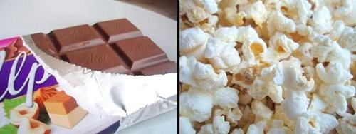 Was ist besser: Schokolade oder Popcorn?