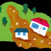 土砂崩れ・土石流のイラスト(自然災害)